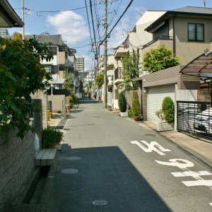 A suburban Japanese street full of interesting cooking smells