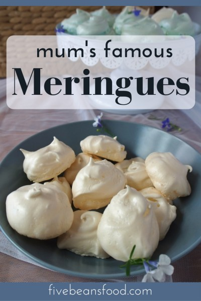 My mum's meringues were famous! I'm sharing her old family favourite recipe for meringue and pavlova