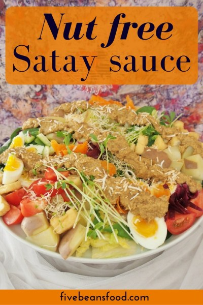 Yes, really! A satay sauce without peanuts, completely nut free but with an authentic Indonesian style satay flavour, perfect for dishes like satay chicken kebabs or gado gado