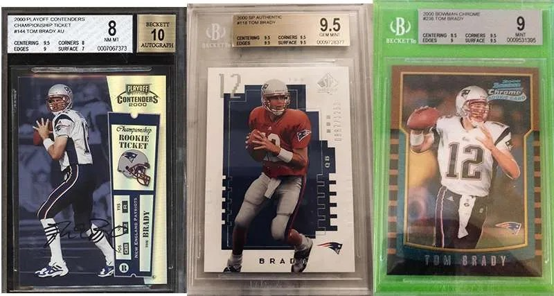 Tom Brady And His Top 3 Rookie Cards Fivecardguys