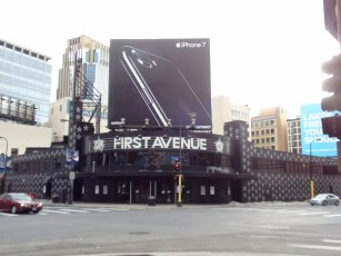 First Avenue features prominently on the corner.