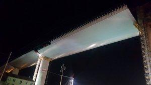 Continua la corsa del nuovo viadotto Polcevera: in quota il 75% della lunghezza totale del ponte