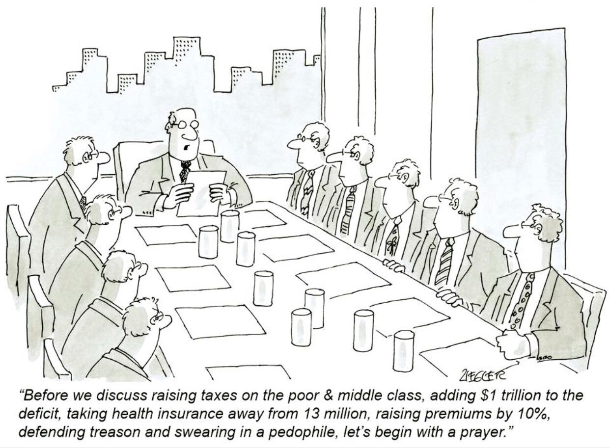 Friday Morning's Meeting of Republican Senators