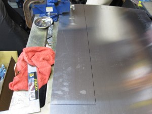 Tracing the design onto sheet metal