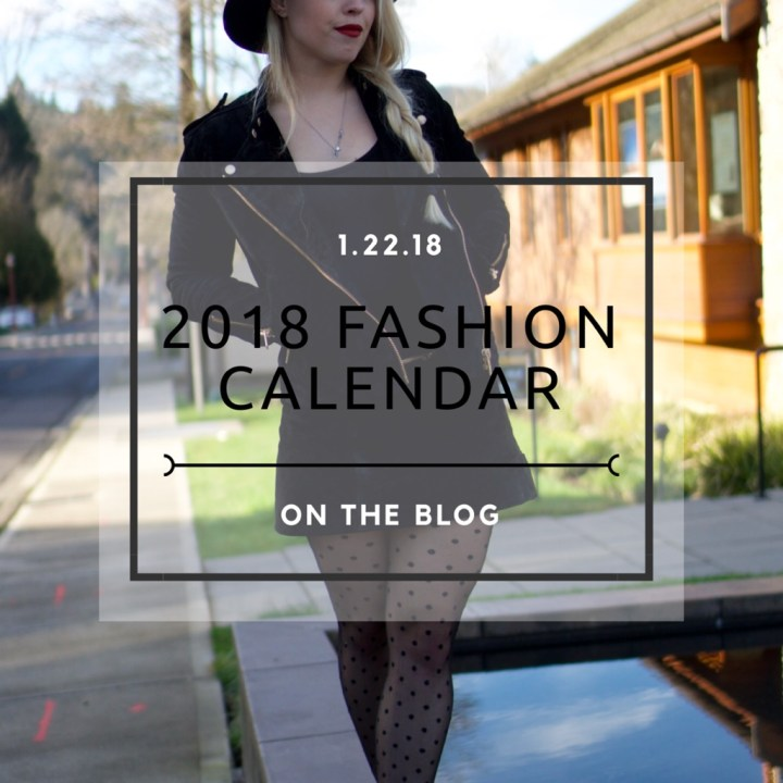 2018 Fashion Calendar