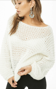 Forever 21 Open Knit Wool Sweater