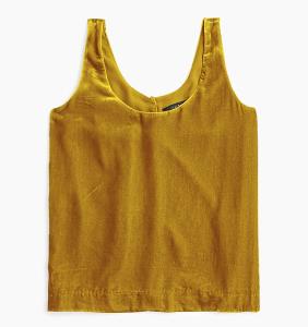 JCrew Yellow Velvet Tank