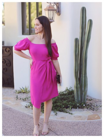 Anthropologie Resort Wrap Dress on Five Foot Feminine