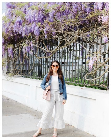 Five Foot Feminine Visiting Charleston During Wisteria Season