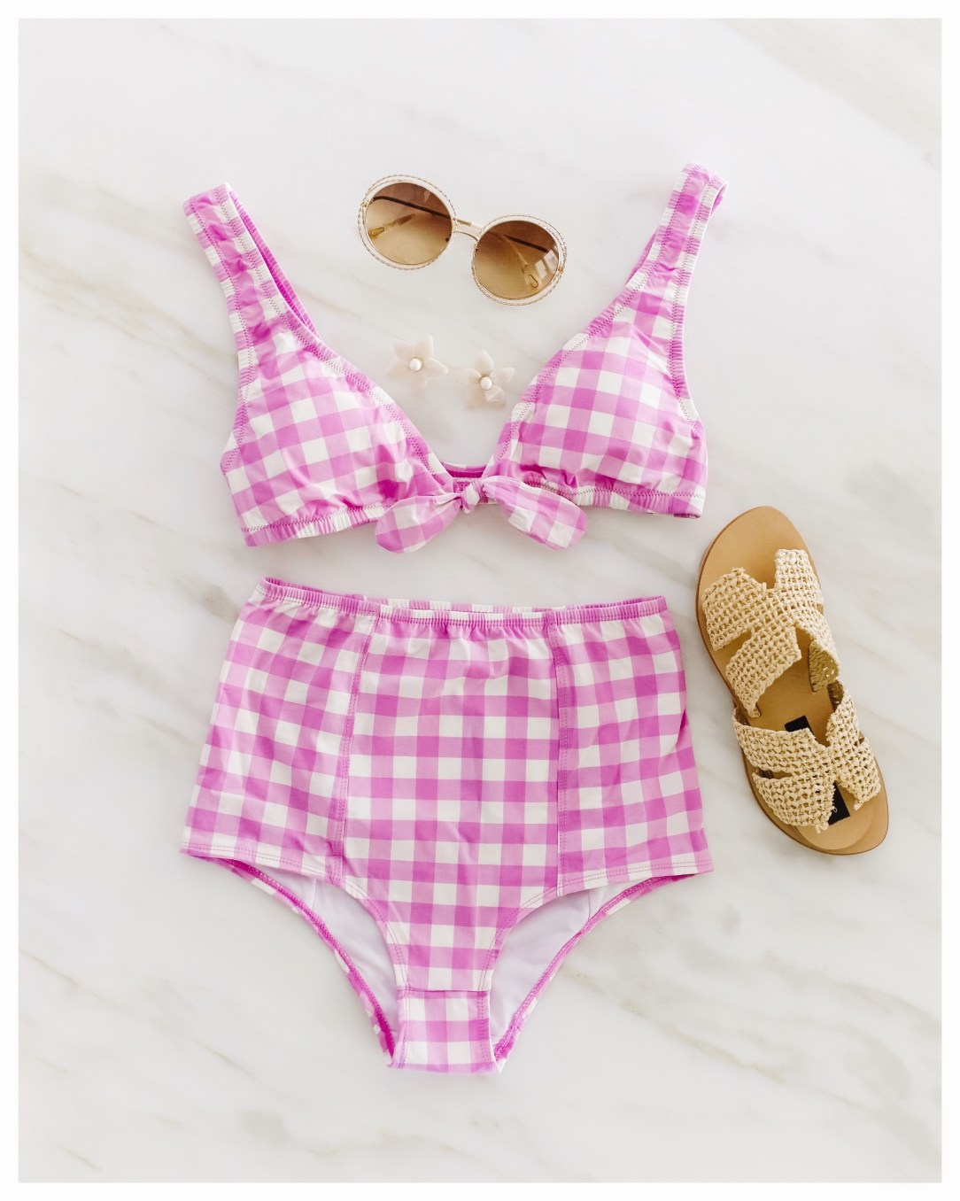 Jcrew Gingham Swimsuit