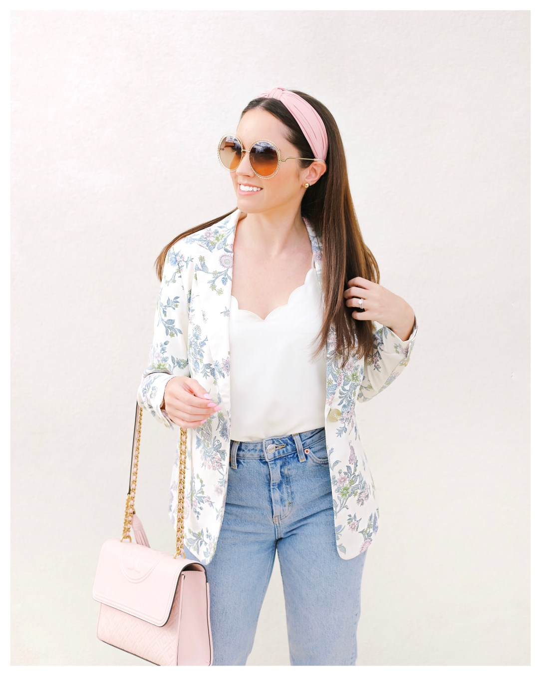 Five Foot Feminine in LOFT FLORAL MODERN BLAZER