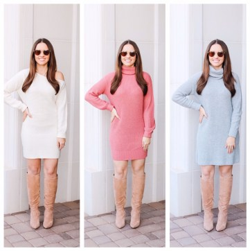 Sweater Dresses on Five Foot Feminine