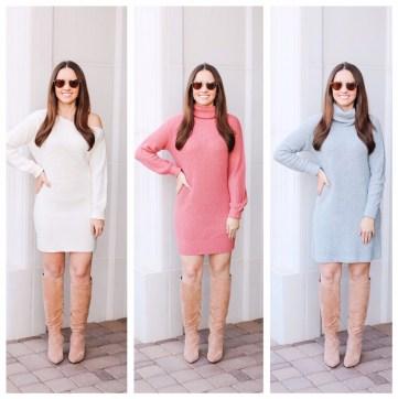 Sweater Dresses on Five Foot Feminine