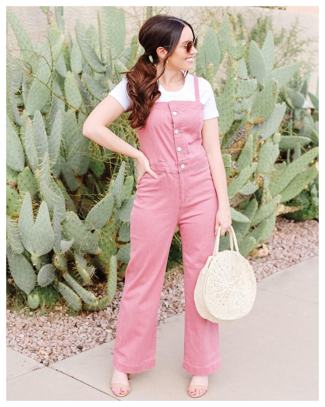 Pink Jumpsuit on Five Foot Feminine