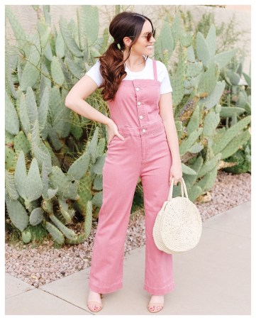 Pink Jumpsuit on Five Foot Feminine