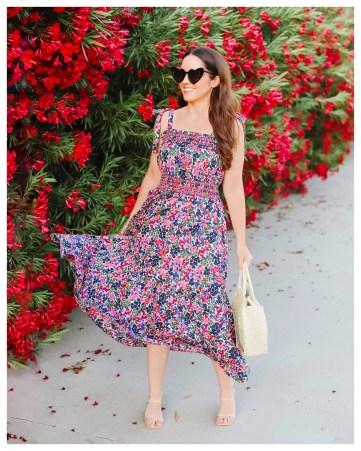 Jcrew Floral Sundress Dress on Five Foot Feminine