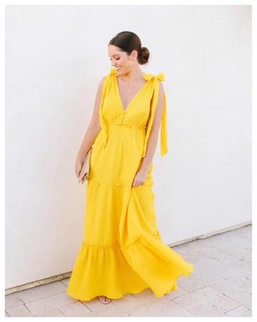 Yellow Maxi Dress on Five Foot Feminine
