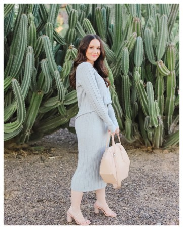 Rachel Parcell knit sweater set on FiveFootFeminine