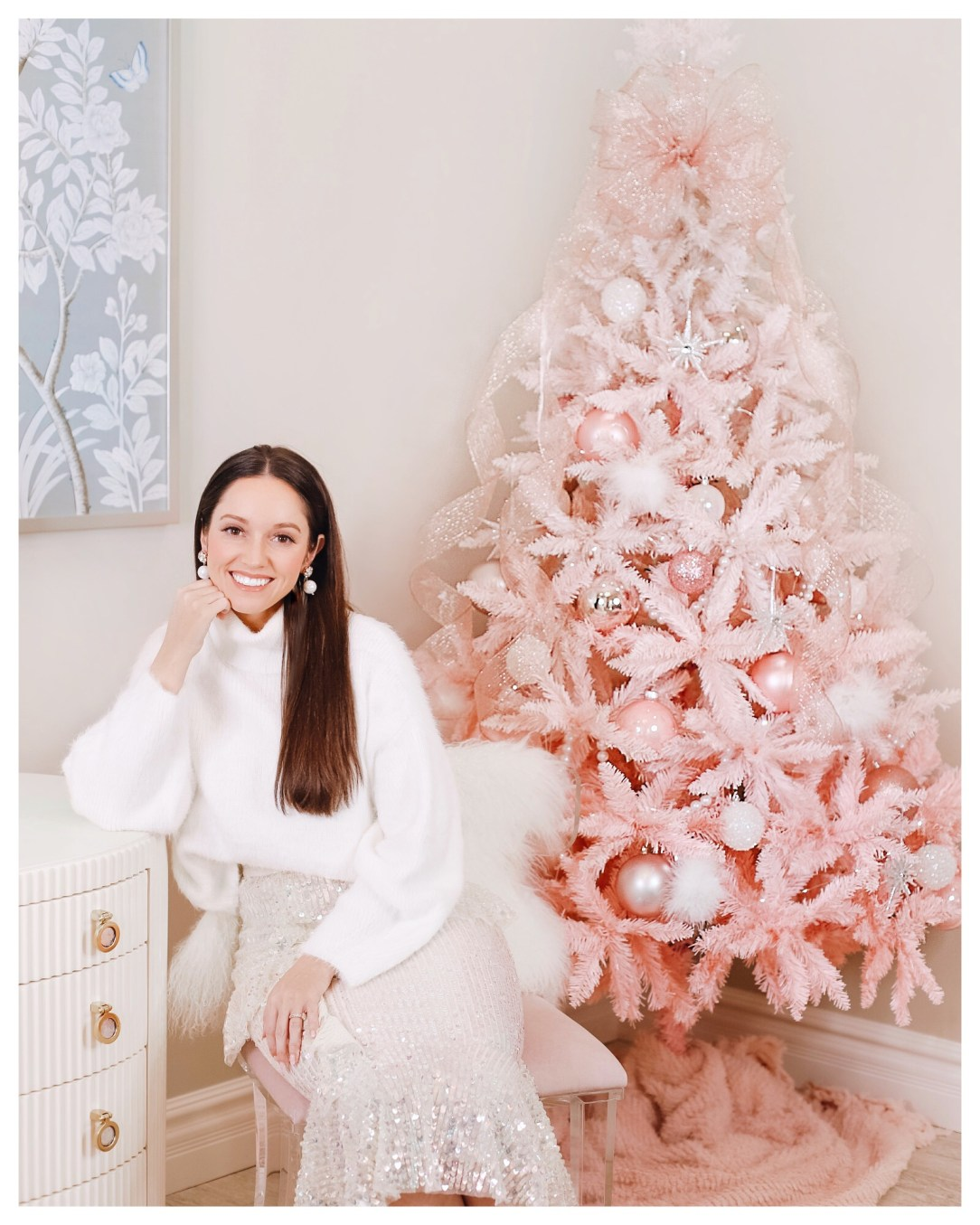 Pink Christmas Decor by FiveFootFeminine