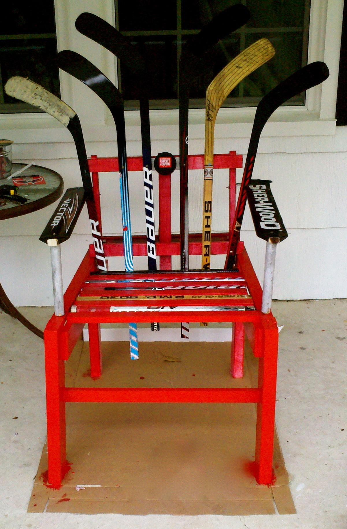 wishing chair photo frame diy rocking kit hockey stick furniture plans