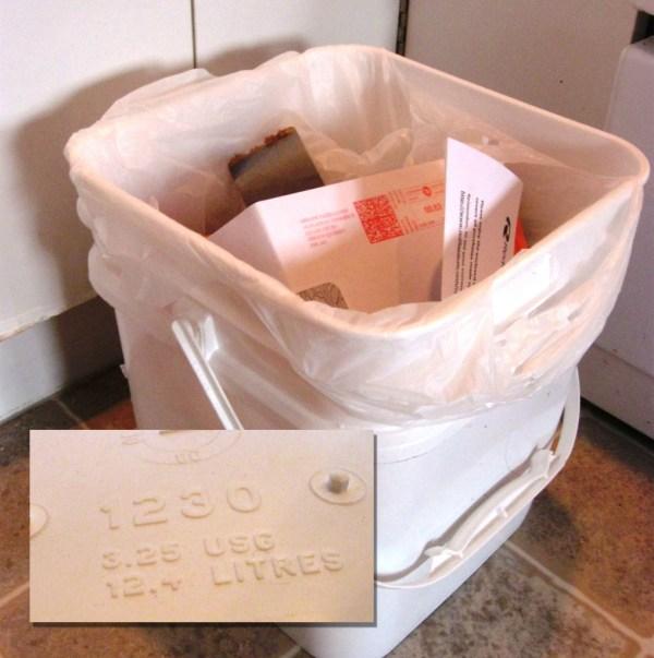 Grocery Bag Trash Five Gallon Ideas