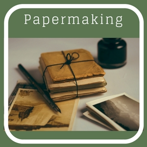Papermaking from recycled paper.