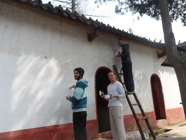 Painting at Five Immortals Temple