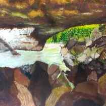Brian McInnerney natural bridge oil on canvas