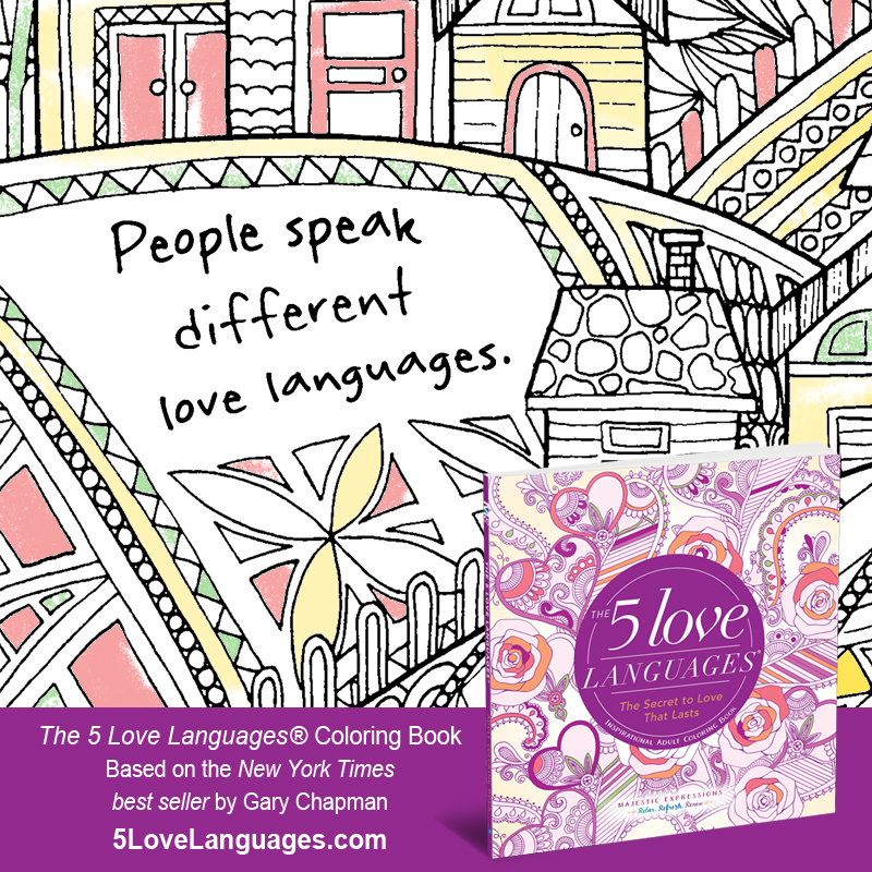 Inspirational Adult Coloring Book The 5 Love Languages