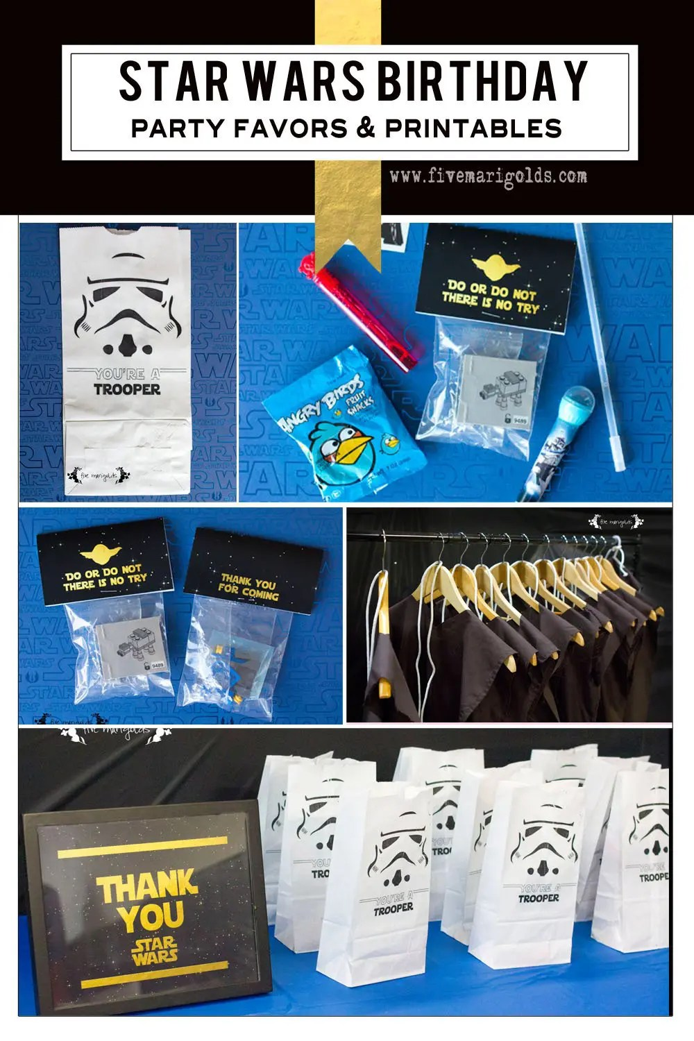 Super creative ideas for Star Wars Birthday favors with Legos