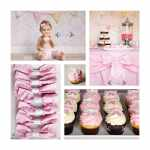 Baby Girl Bow 1st Birthday Party