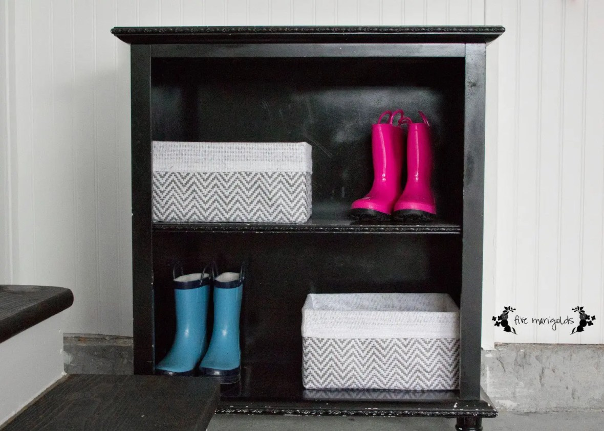 I can't believe the difference this garage to mudroom transformation made, on such a small budget!