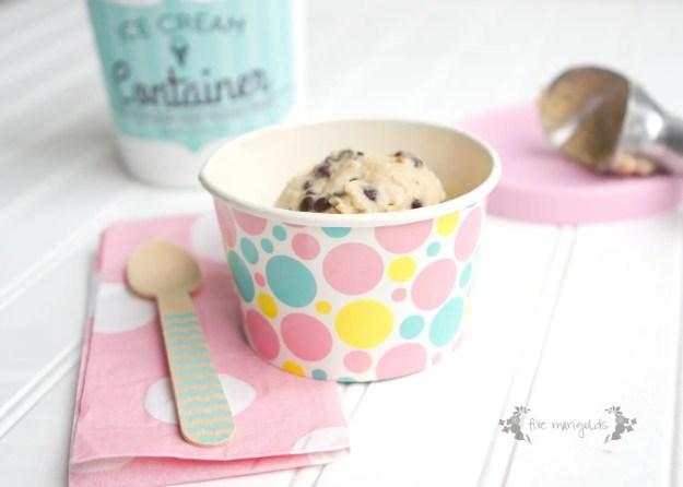 Cookie Dough Frozen Yogurt Recipe | Five Marigolds