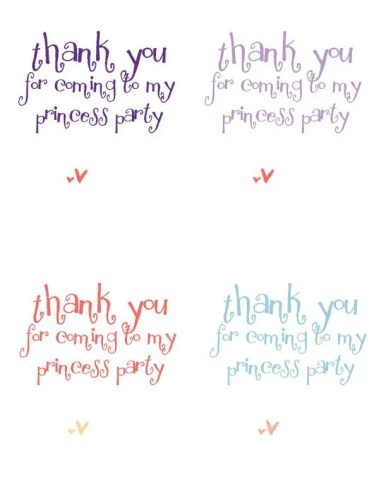 Princess Party Candy Necklace Favors Printable | Five Marigolds