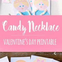 Candy Necklace Valentine's Printable