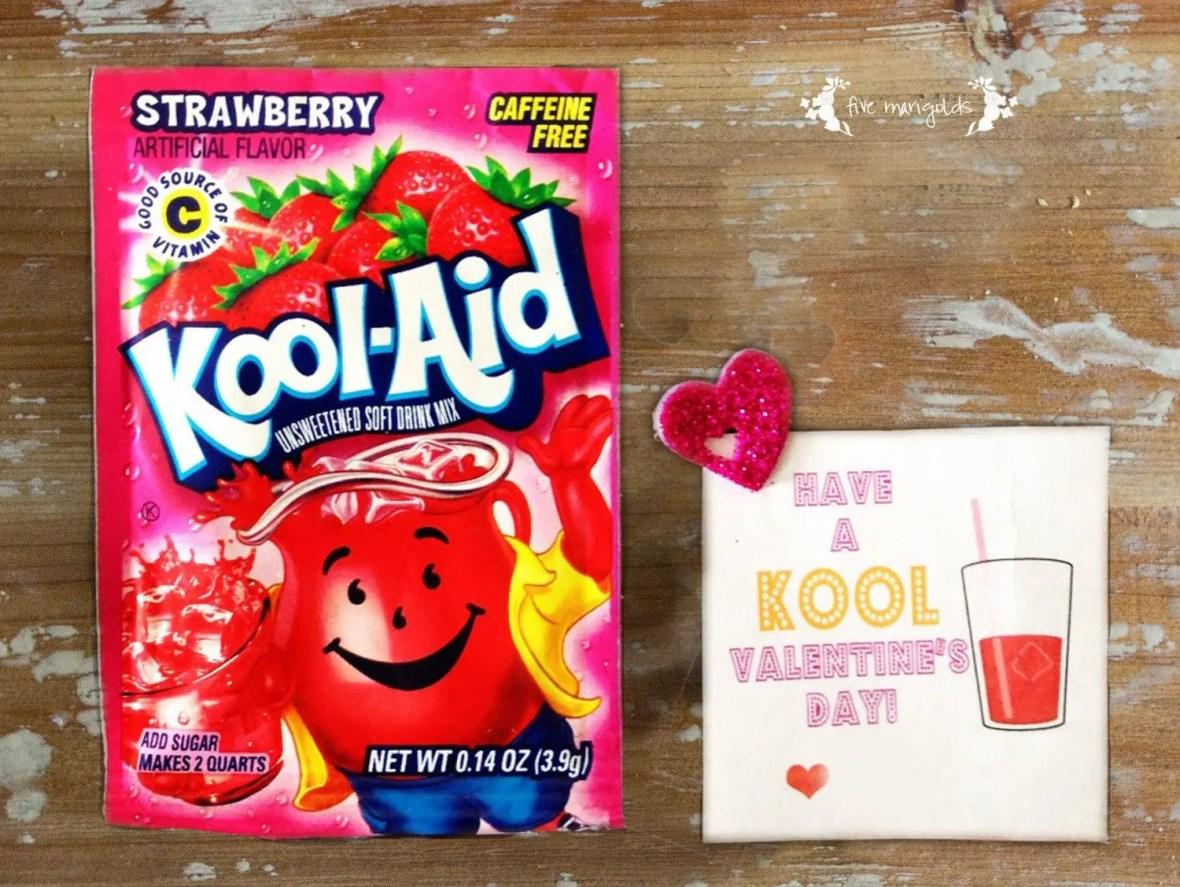 Kool-Aid Valentine Printable | www.fivemarigolds.com