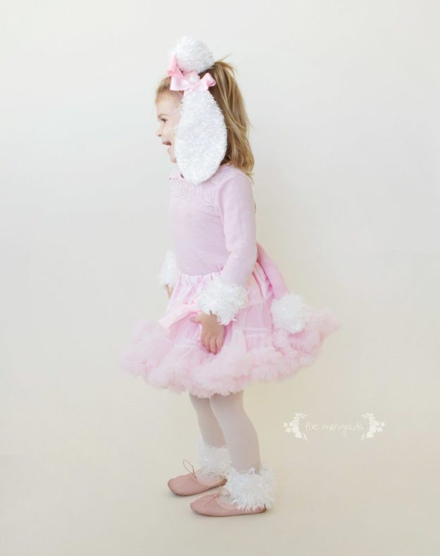 Copycat Chic: DIY Pink Poodle Costume Pottery Barn Halloween Costume | Five Marigolds