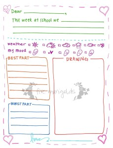 Letter to Grandma Printable Template Girl | Five Marigolds