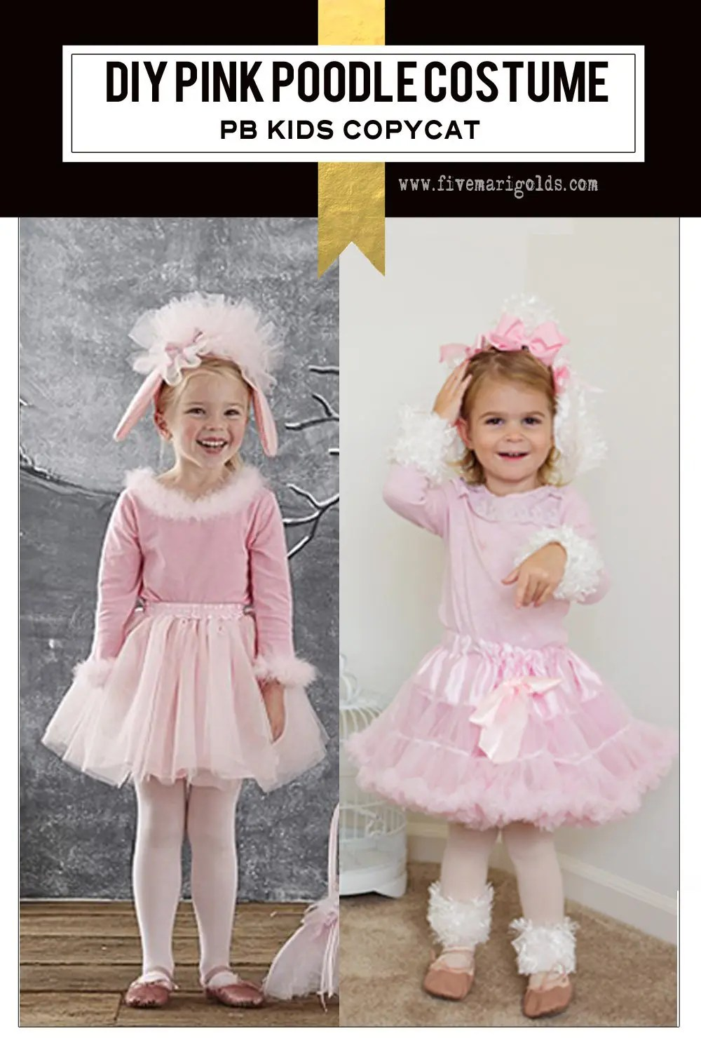 Love this Pottery Barn copycat pink poodle costume!