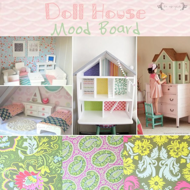 Vintage Doll House Makeover Mood Board | Five Marigolds