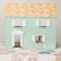 Vintage Dollhouse Makeover Part II: Exterior Facelift