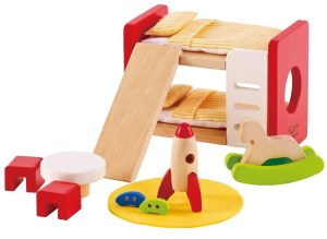 Hape dollhouse bedroom bunk bed furniture | Five Marigolds