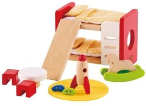 Hape dollhouse bedroom bunk bed furniture | Five Marigolds