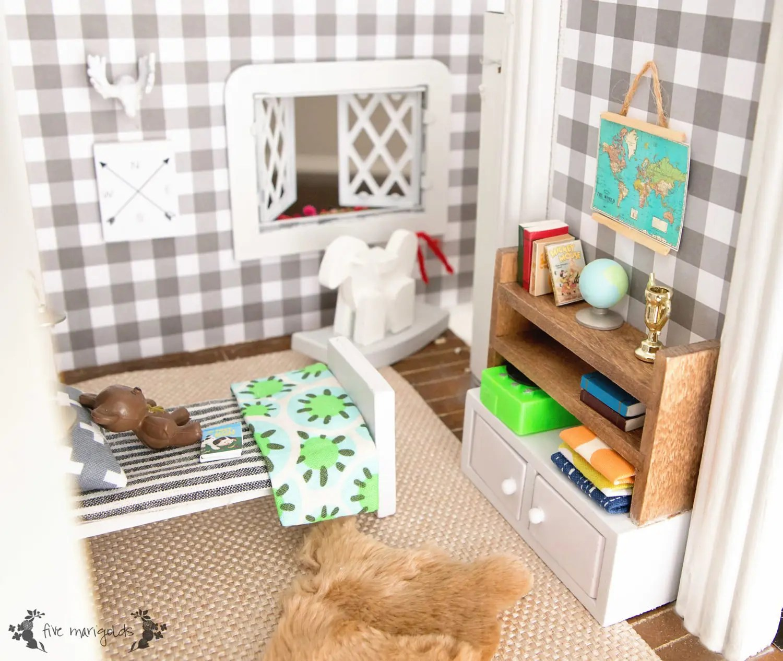 hape play kitchen under cabinet led lighting vintage dollhouse makeover part iii: boy's room - five ...