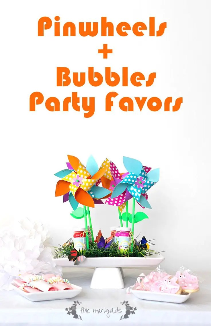 It's Pin-Wheelie Fun Birthday Favors + Free Printable | Five Marigolds