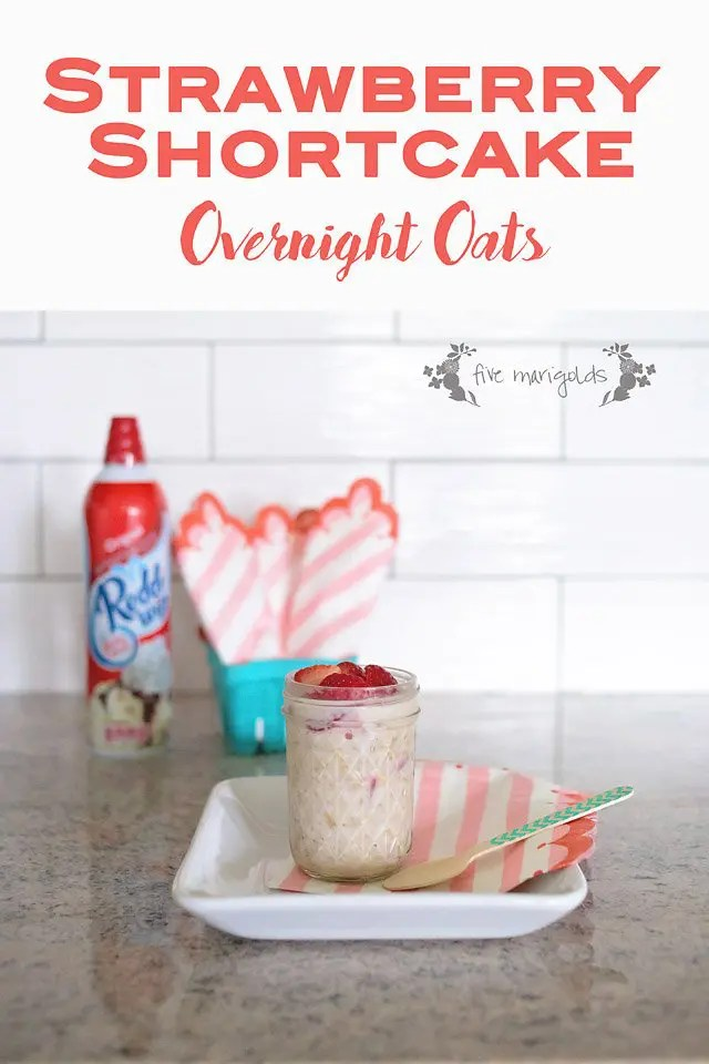 Strawberry Shortcake Overnight Oats packs the flavor of your favorite dessert for breakfast!