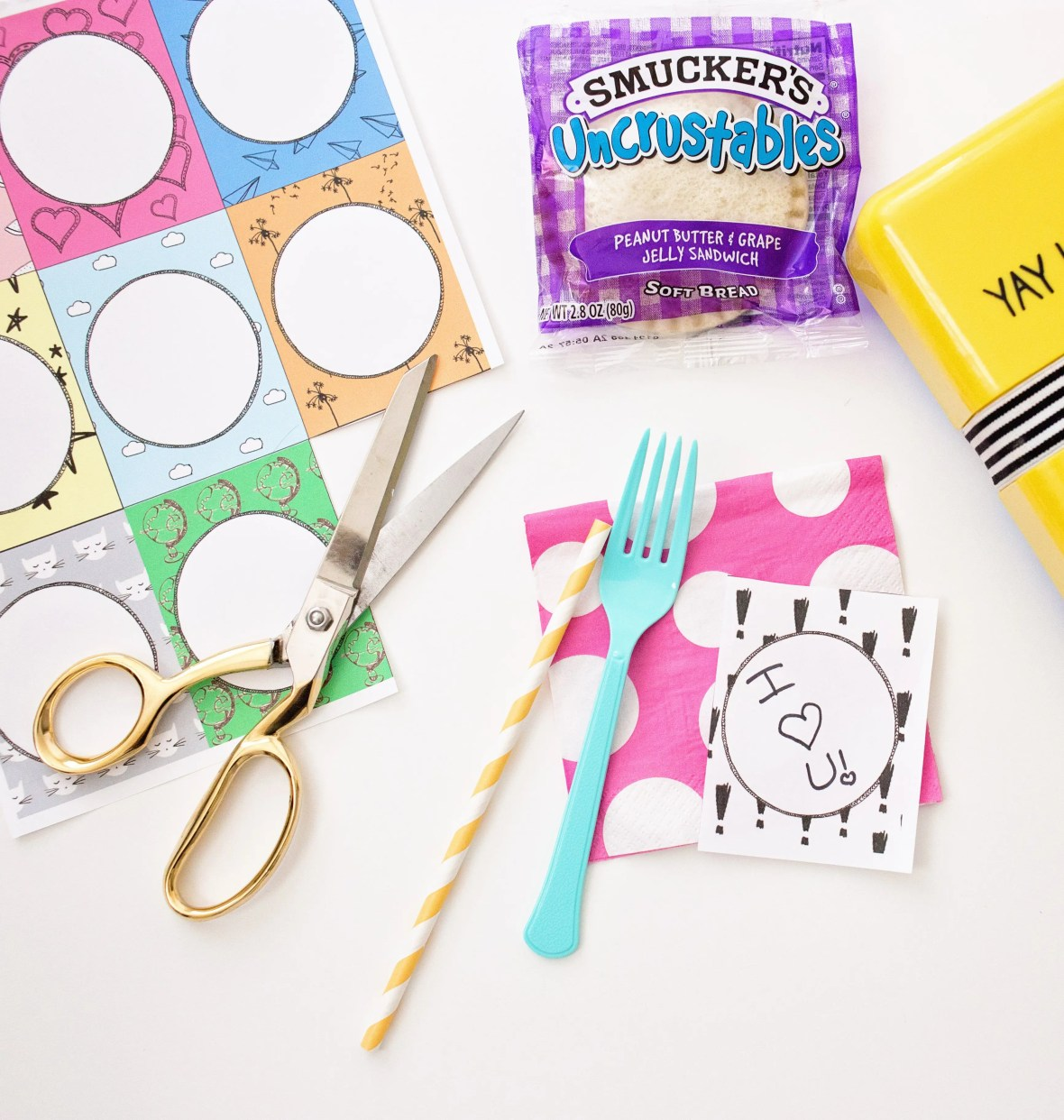 Back To School: Fill In The Blank Lunchbox Notes Printable | Five Marigolds