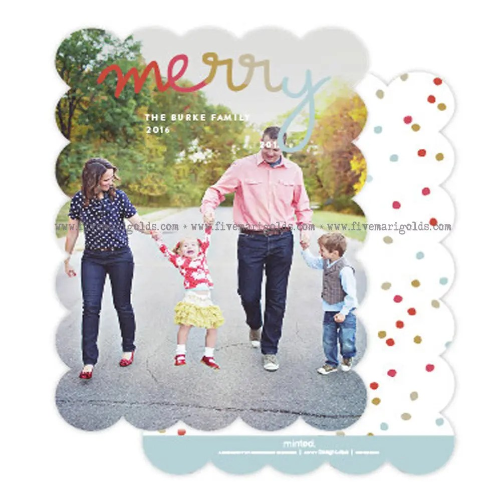 10 Christmas Card Ideas You Should Totally Steal + Free Template Card | Five Marigolds