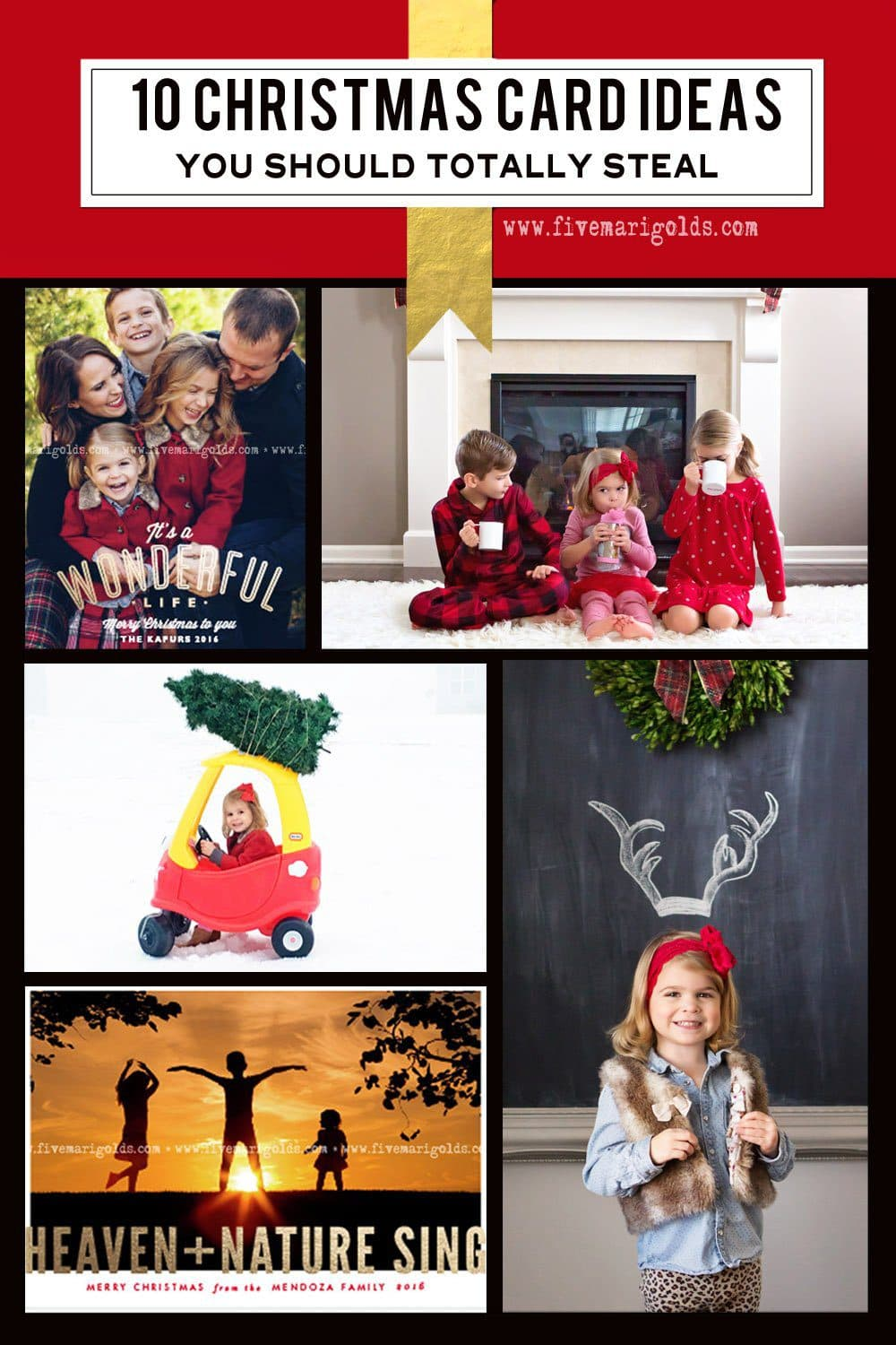 10 Christmas Card Photography Ideas + FREE Template | Five Marigolds
