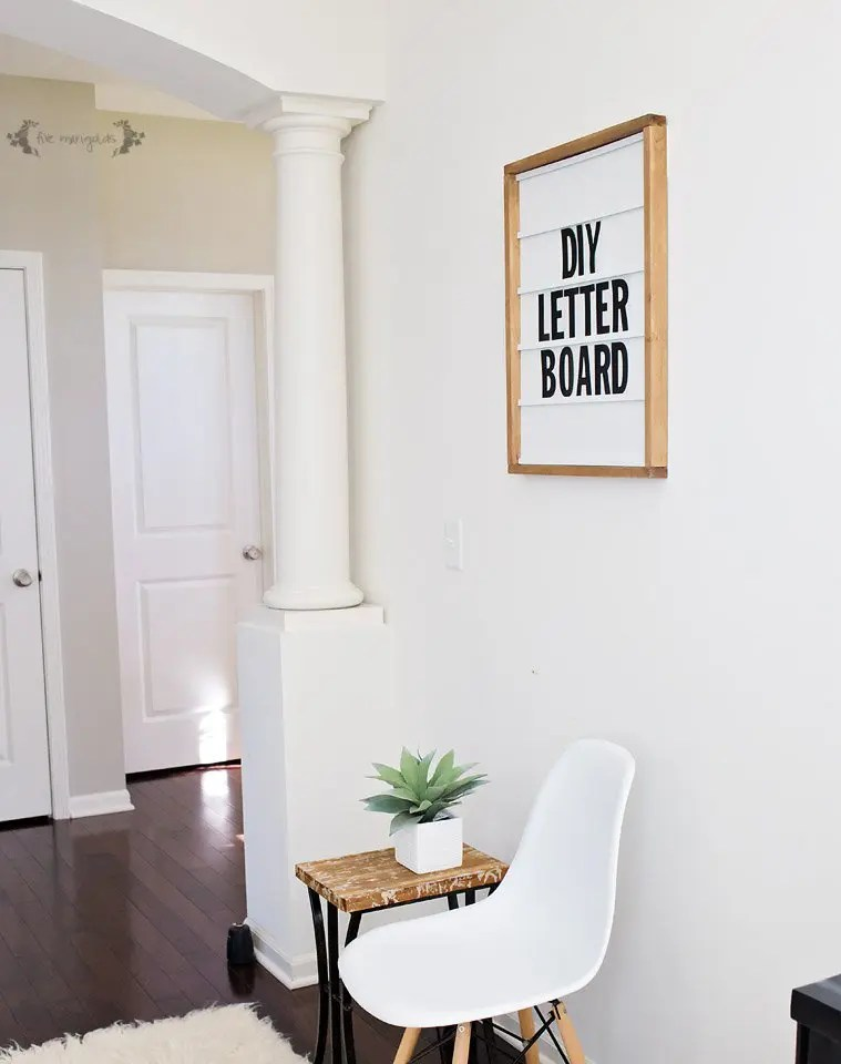 Make The Ultimate Marquee Letter Board Five Marigolds
